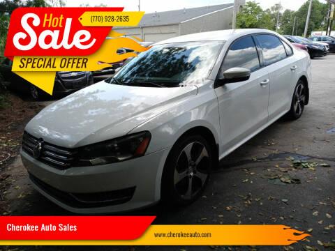2014 Volkswagen Passat for sale at Cherokee Auto Sales in Acworth GA