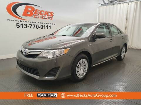 2013 Toyota Camry Hybrid for sale at Becks Auto Group in Mason OH