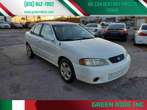2003 Nissan Sentra for sale at Green Ride Inc in Nashville TN
