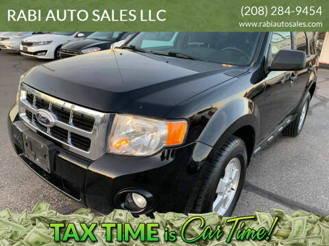 2012 Ford Escape for sale at RABI AUTO SALES LLC in Garden City ID