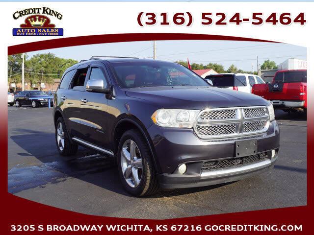 2012 Dodge Durango for sale at Credit King Auto Sales in Wichita KS