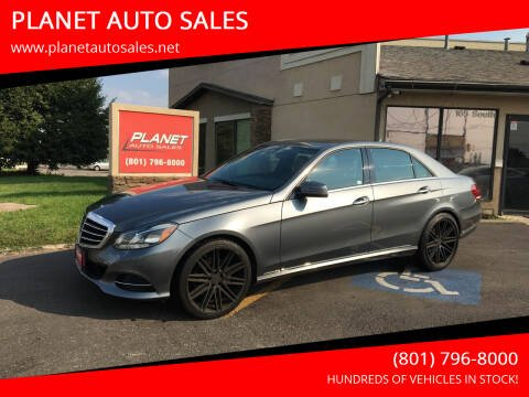 2016 Mercedes-Benz E-Class for sale at PLANET AUTO SALES in Lindon UT