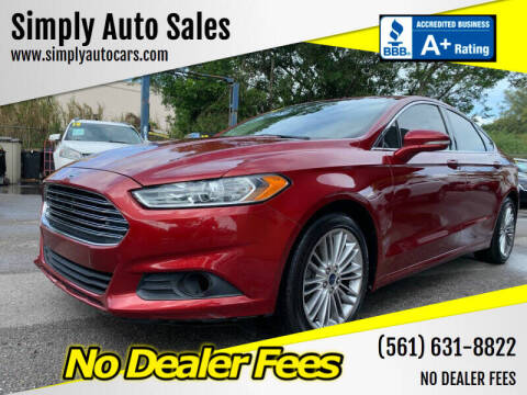 2014 Ford Fusion for sale at Simply Auto Sales in Palm Beach Gardens FL