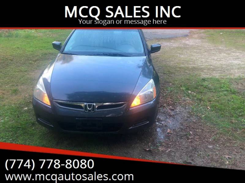 2006 Honda Accord for sale at MCQ SALES INC in Upton MA
