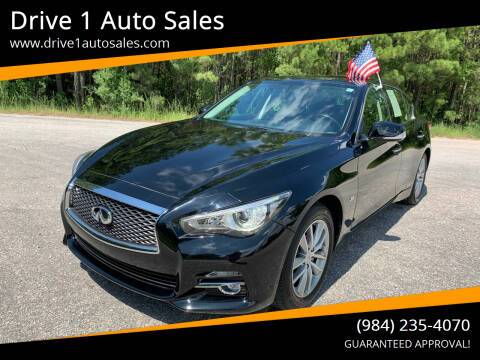 2016 Infiniti Q50 for sale at Drive 1 Auto Sales in Wake Forest NC