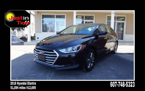 2018 Hyundai Elantra for sale at Just In Time Auto in Endicott NY