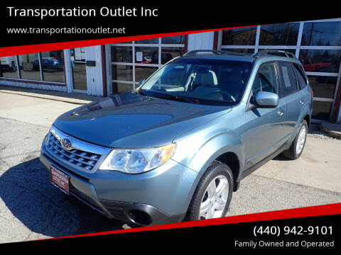 2013 Subaru Forester for sale at Transportation Outlet Inc in Eastlake OH