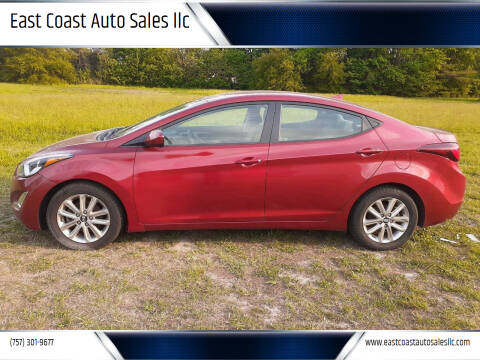 2014 Hyundai Elantra for sale at East Coast Auto Sales llc in Virginia Beach VA