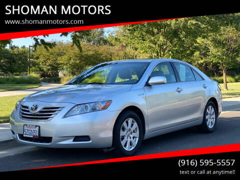 2007 Toyota Camry Hybrid for sale at SHOMAN MOTORS in Davis CA