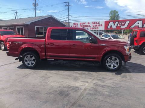 2018 Ford F-150 for sale at N & J Auto Sales in Warsaw IN