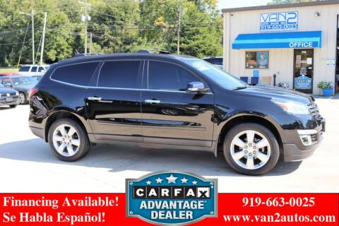 2017 Chevrolet Traverse for sale at Van 2 Auto Sales Inc in Siler City NC