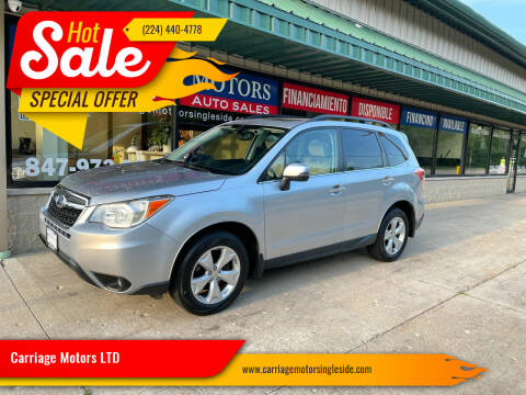2014 Subaru Forester for sale at Carriage Motors LTD in Ingleside IL