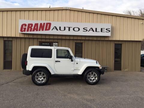 2015 Jeep Wrangler for sale at GRAND AUTO SALES in Grand Island NE