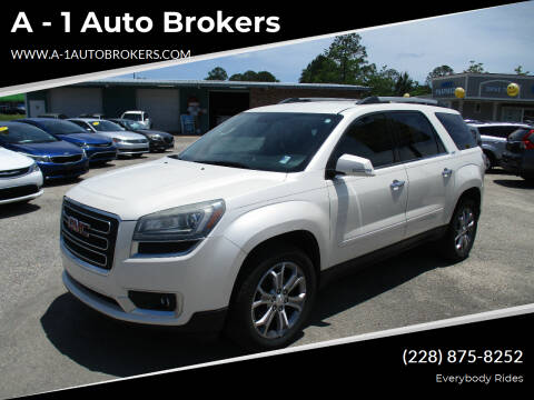 2014 GMC Acadia for sale at A - 1 Auto Brokers in Ocean Springs MS