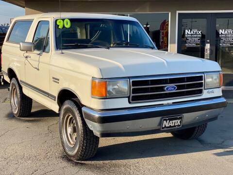 1990 Ford Bronco for sale at AUTO NATIX in Tulare CA