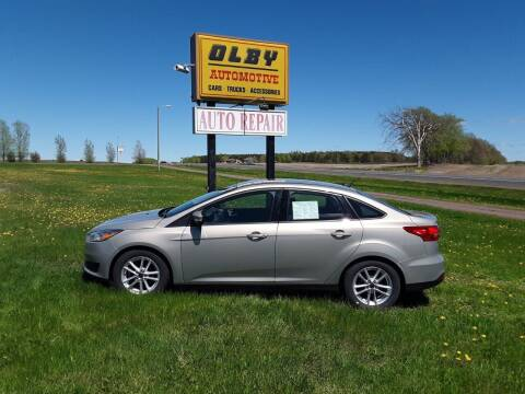 2016 Ford Focus for sale at OLBY AUTOMOTIVE SALES in Frederic WI