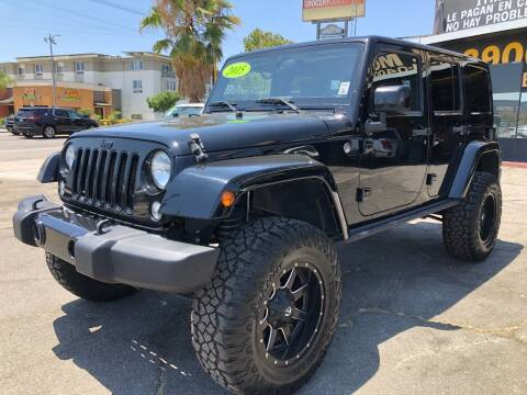 2015 Jeep Wrangler Unlimited for sale at BEST DEAL MOTORS  INC. CARS AND TRUCKS FOR SALE in Sun Valley CA