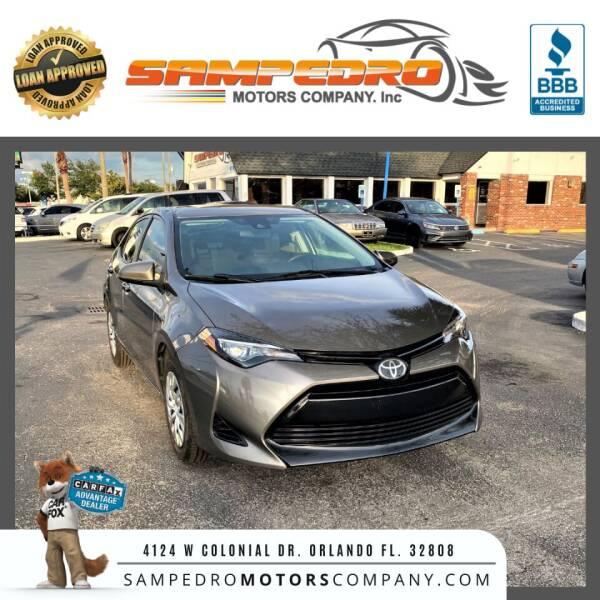 2018 Toyota Corolla for sale at SAMPEDRO MOTORS COMPANY INC in Orlando FL