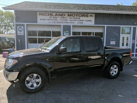 2009 Nissan Frontier for sale at Richland Motors in Cleveland OH