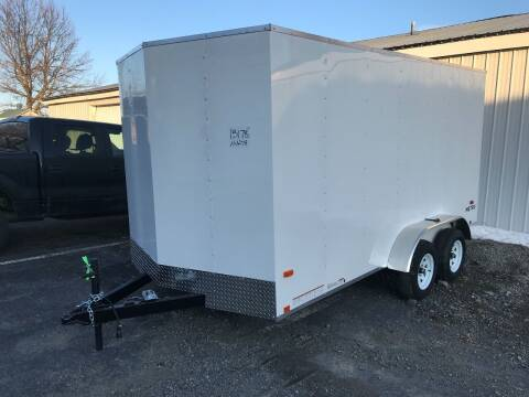 2020 Pace American 7x14 V-Nose Dual Axle for sale at Forkey Auto & Trailer Sales in La Fargeville NY