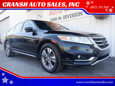 2013 Honda Crosstour for sale at CRANSH AUTO SALES, INC in Arlington TX