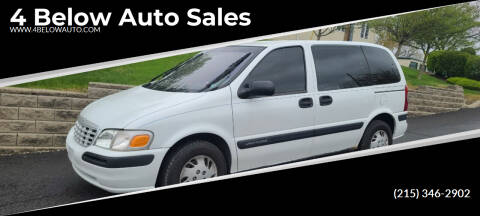 2000 Chevrolet Venture for sale at 4 Below Auto Sales in Willow Grove PA