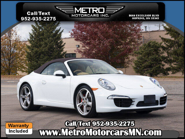 2013 Porsche 911 for sale at Metro Motorcars Inc in Hopkins MN