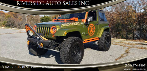 2008 Jeep Wrangler for sale at RIVERSIDE AUTO SALES INC in Somerset MA