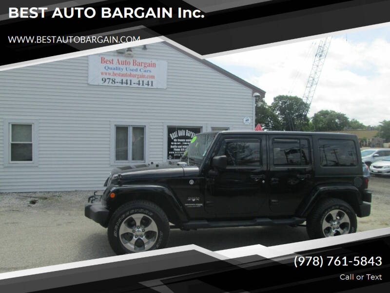 2018 Jeep Wrangler JK Unlimited for sale at BEST AUTO BARGAIN inc. in Lowell MA