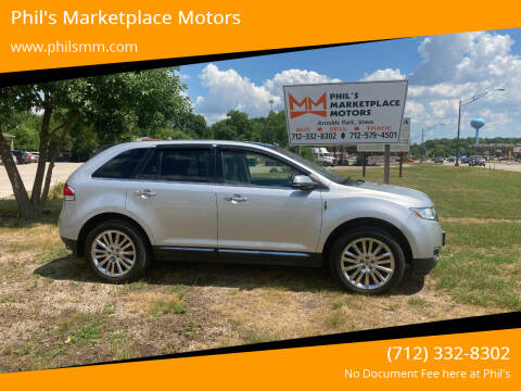 2013 Lincoln MKX for sale at Phil's Marketplace Motors in Arnolds Park IA
