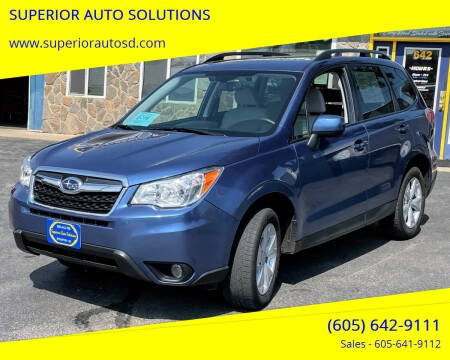 2016 Subaru Forester for sale at SUPERIOR AUTO SOLUTIONS in Spearfish SD