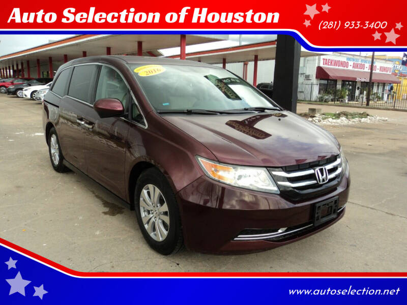 2016 Honda Odyssey for sale at Auto Selection of Houston in Houston TX