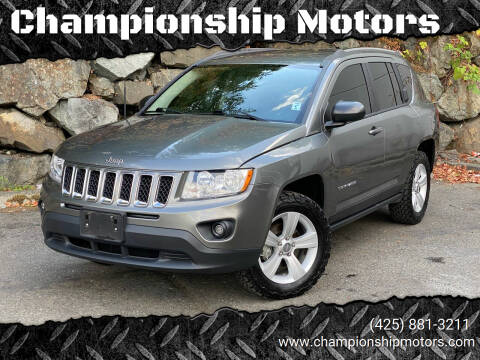 2012 Jeep Compass for sale at Championship Motors in Redmond WA