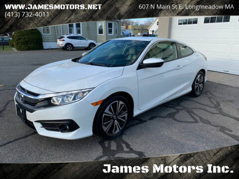 2017 Honda Civic for sale at James Motors Inc. in East Longmeadow MA