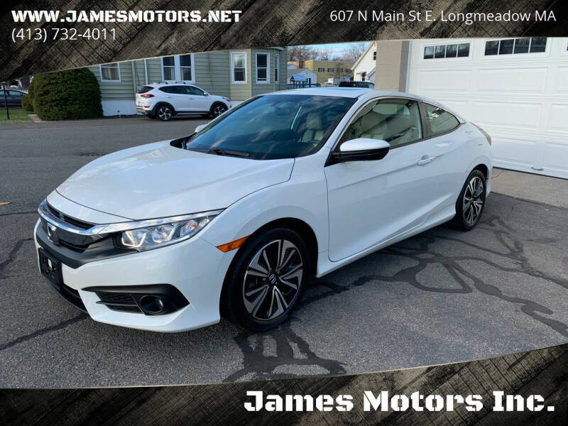 2017 Honda Civic for sale at James Motors Inc. in East Longmeadow MA