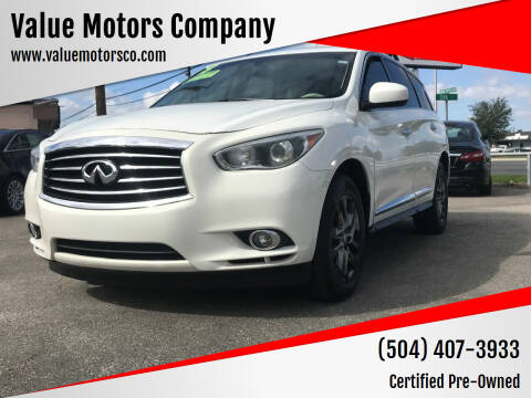 2013 Infiniti JX35 for sale at Value Motors Company in Marrero LA