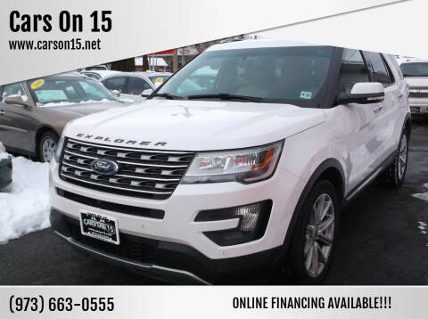 2016 Ford Explorer for sale at Cars On 15 in Lake Hopatcong NJ