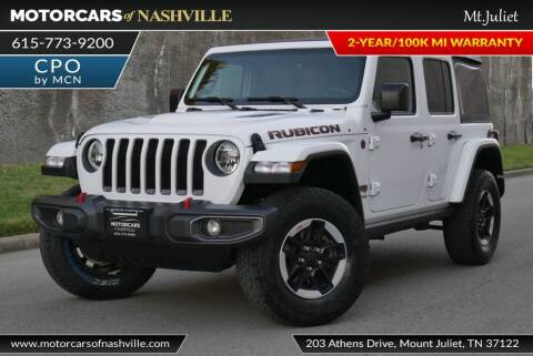 2020 Jeep Wrangler Unlimited for sale at MotorCars of Nashville in Mount Juliet TN
