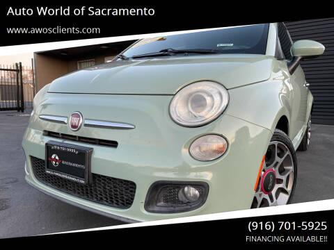 2012 FIAT 500 for sale at Auto World of Sacramento Stockton Blvd in Sacramento CA
