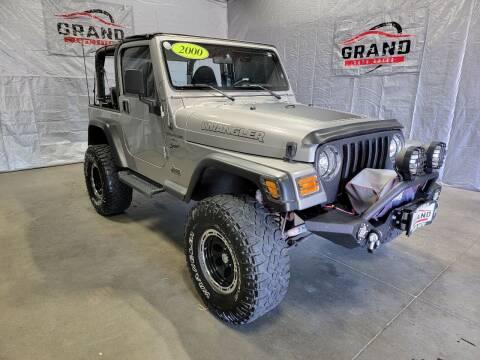 2000 Jeep Wrangler for sale at GRAND AUTO SALES in Grand Island NE
