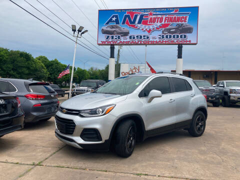 2019 Chevrolet Trax for sale at ANF AUTO FINANCE in Houston TX