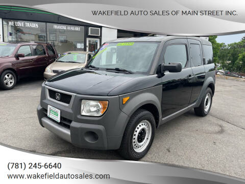 2003 Honda Element for sale at Wakefield Auto Sales of Main Street Inc. in Wakefield MA