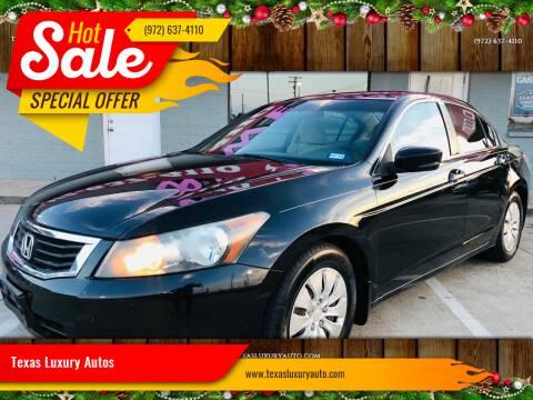 2010 Honda Accord for sale at Texas Luxury Auto in Cedar Hill TX