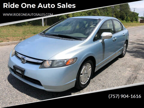 2006 Honda Civic for sale at Ride One Auto Sales in Norfolk VA