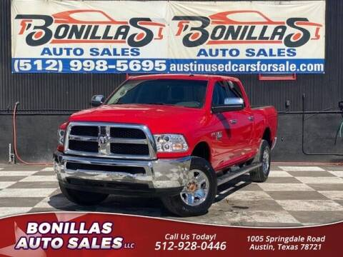 2017 RAM Ram Pickup 2500 for sale at Bonillas Auto Sales in Austin TX