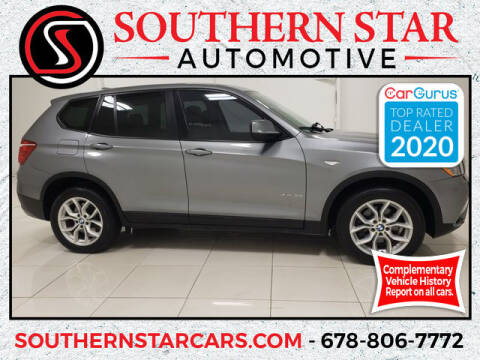 2012 BMW X3 for sale at Southern Star Automotive, Inc. in Duluth GA