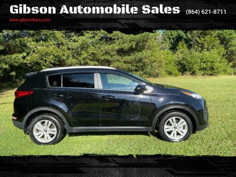 2017 Kia Sportage for sale at Gibson Automobile Sales in Spartanburg SC