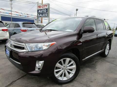 2012 Toyota Highlander Hybrid for sale at TRI CITY AUTO SALES LLC in Menasha WI