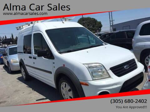 2011 Ford Transit Connect for sale at Alma Car Sales in Miami FL