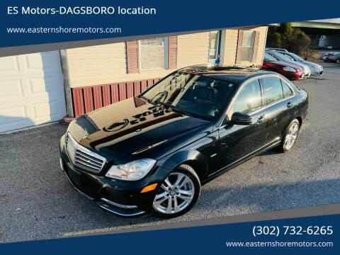 2012 Mercedes-Benz C-Class for sale at ES Motors-DAGSBORO location in Dagsboro DE
